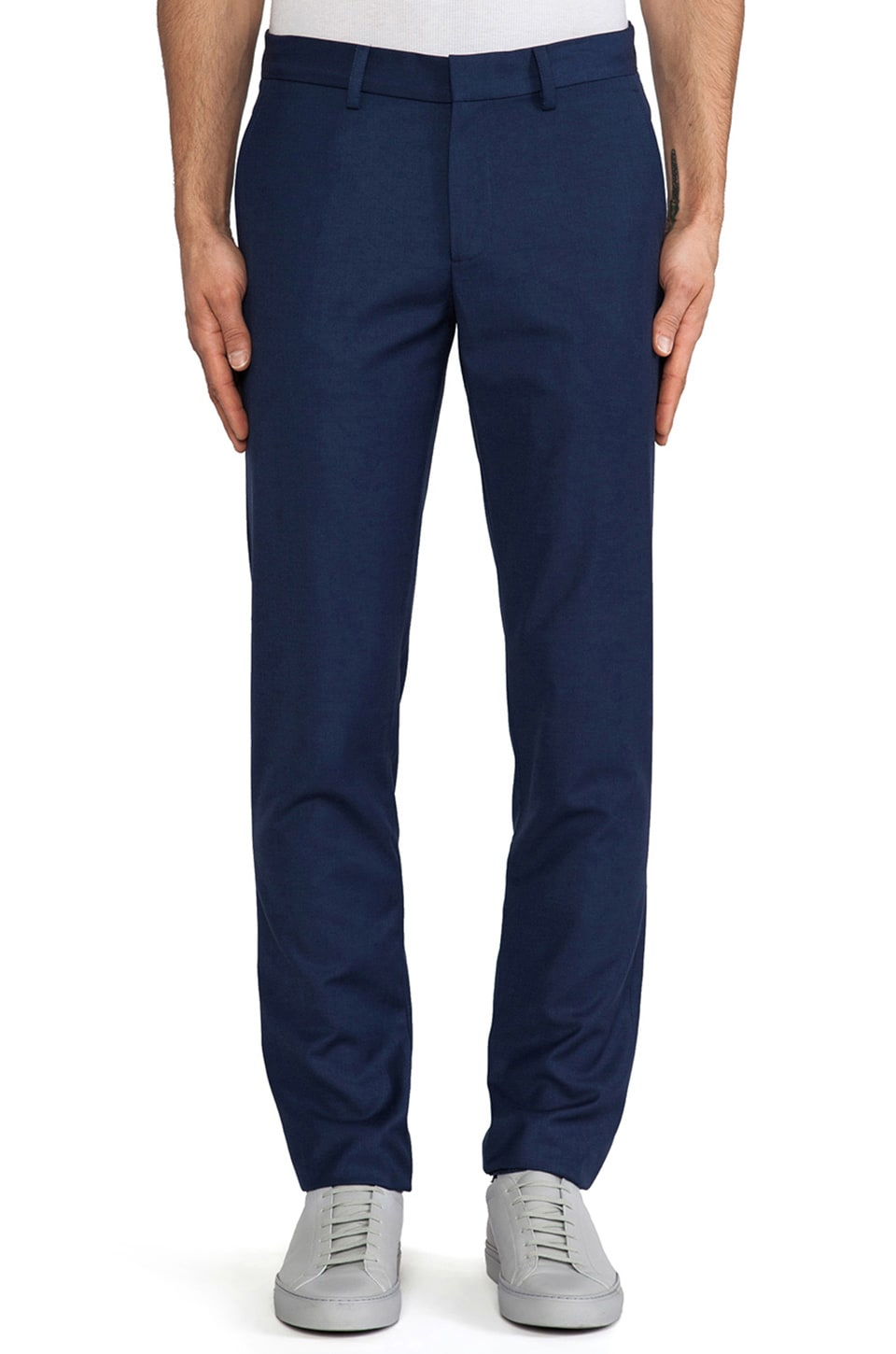Shades of Grey by Micah Cohen Slim Fit Suit Pant in Classic Blue Wool