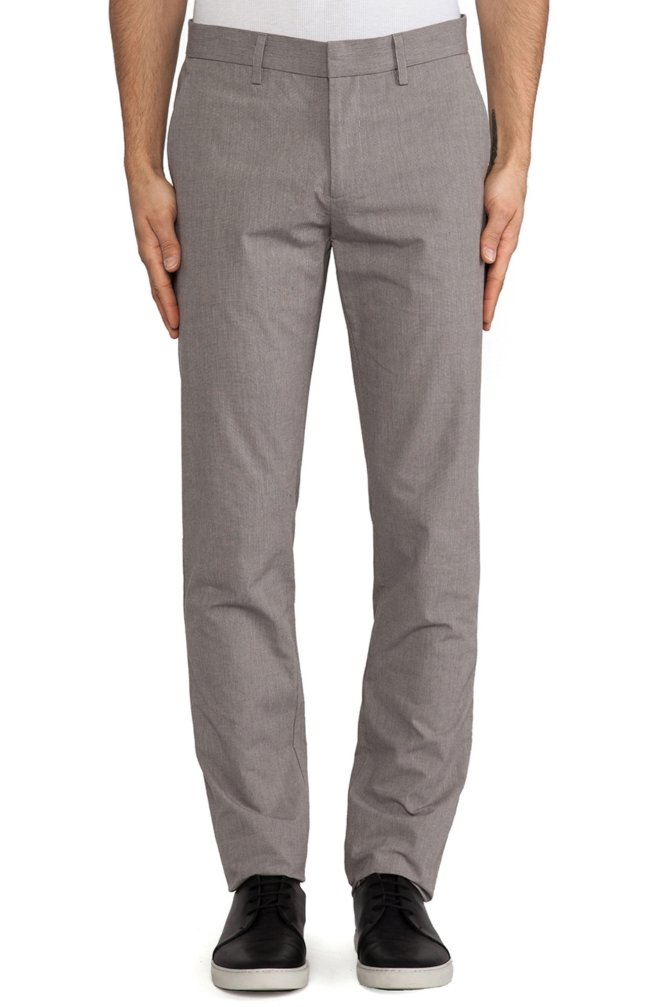 Shades of Grey by Micah Cohen Slim Fit Suit Pant in Slate Stripe