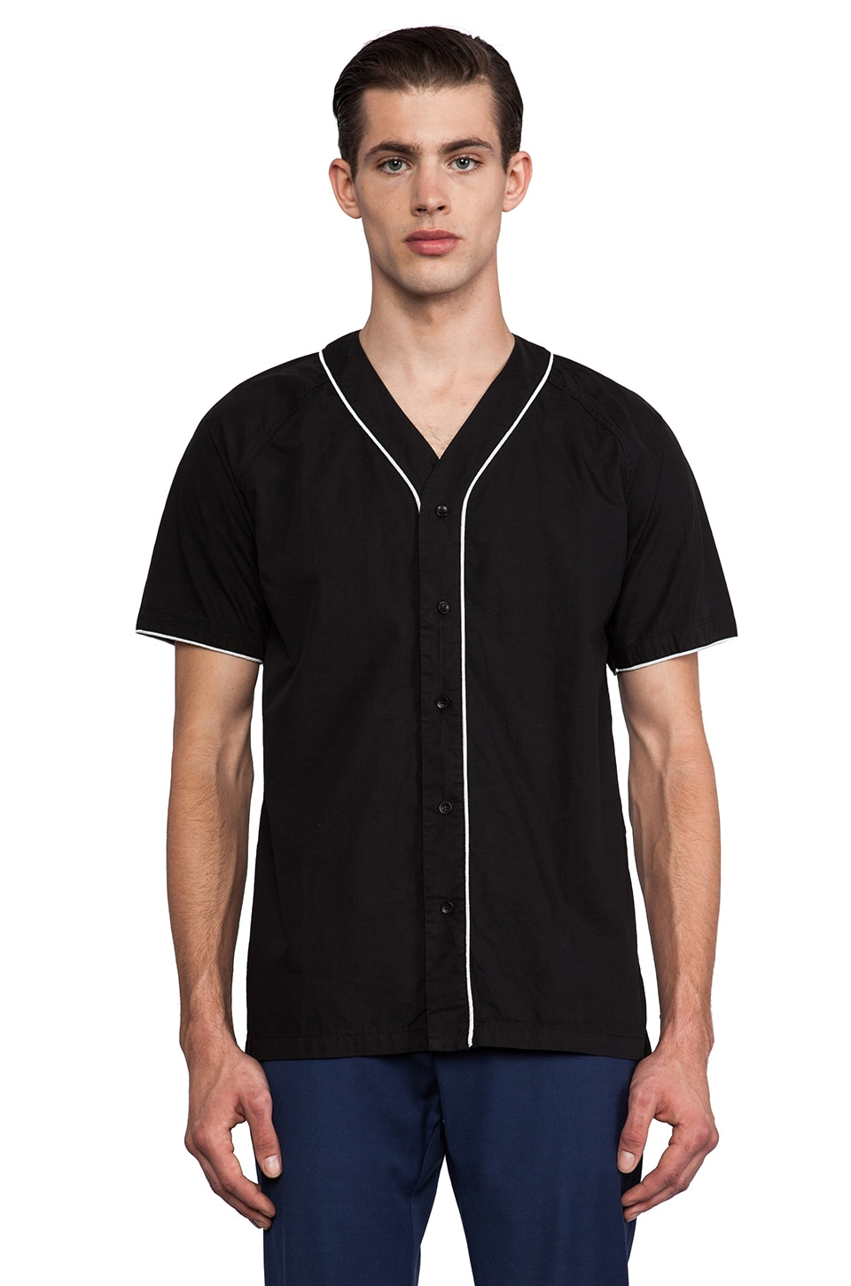Shades of Grey by Micah Cohen Baseball Shirt in Black