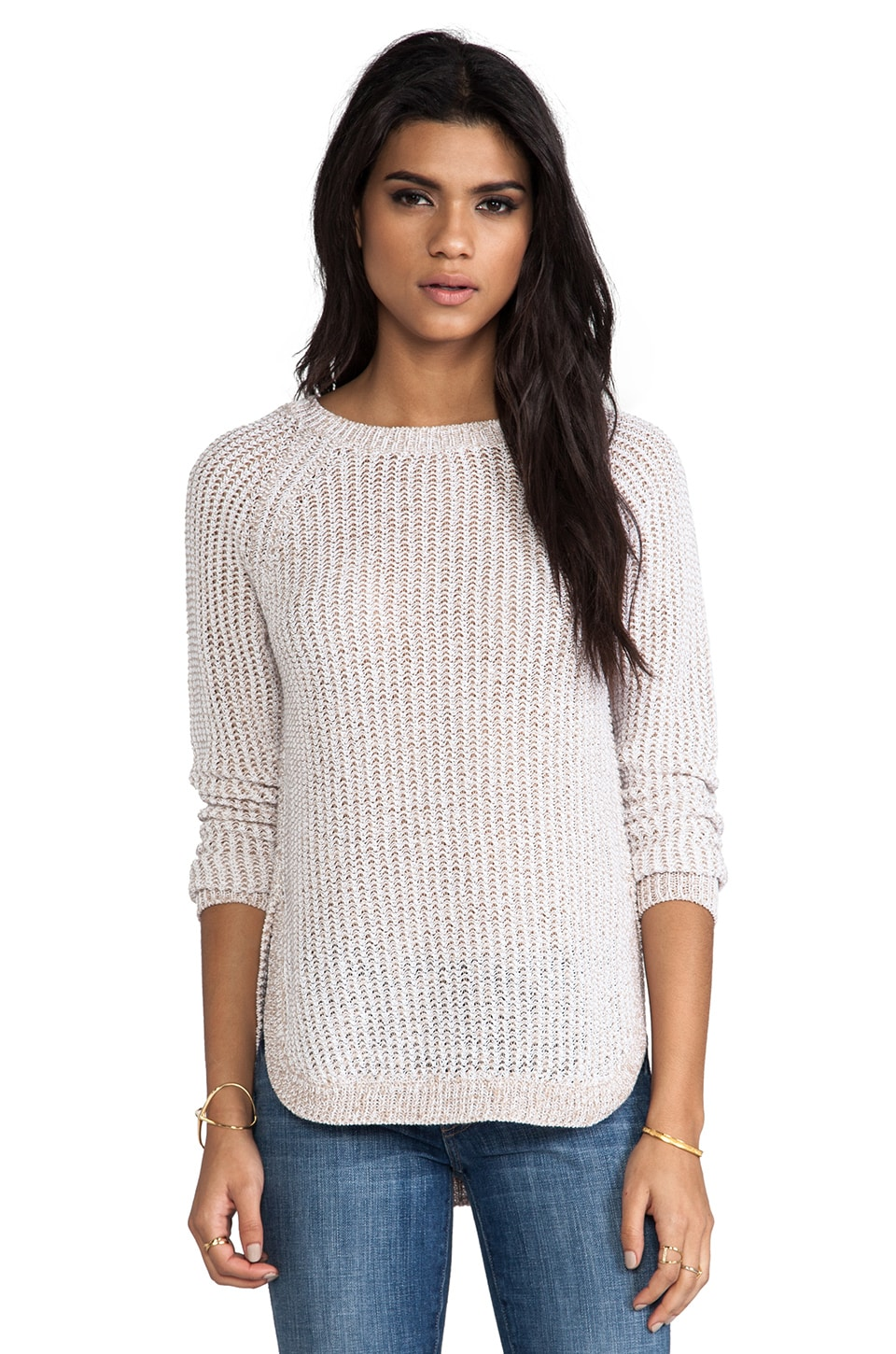 SHAE Stitchy Pullover in Flax White