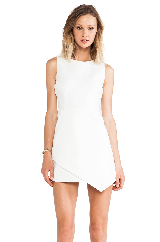 Shakuhachi Polished Envelope Dress in White