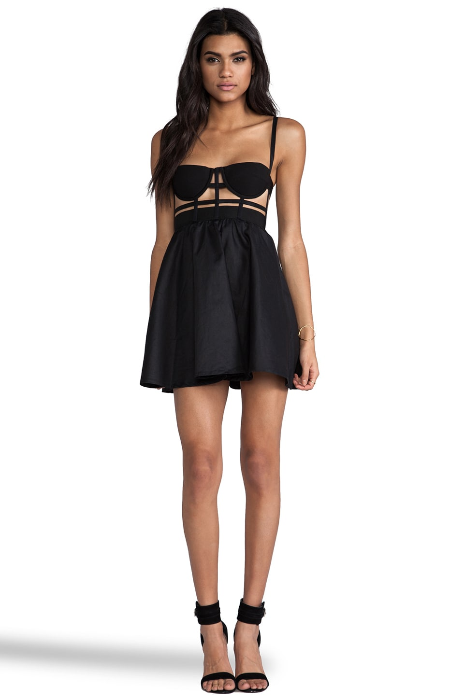 Shakuhachi Cage Bustier Dress in Black