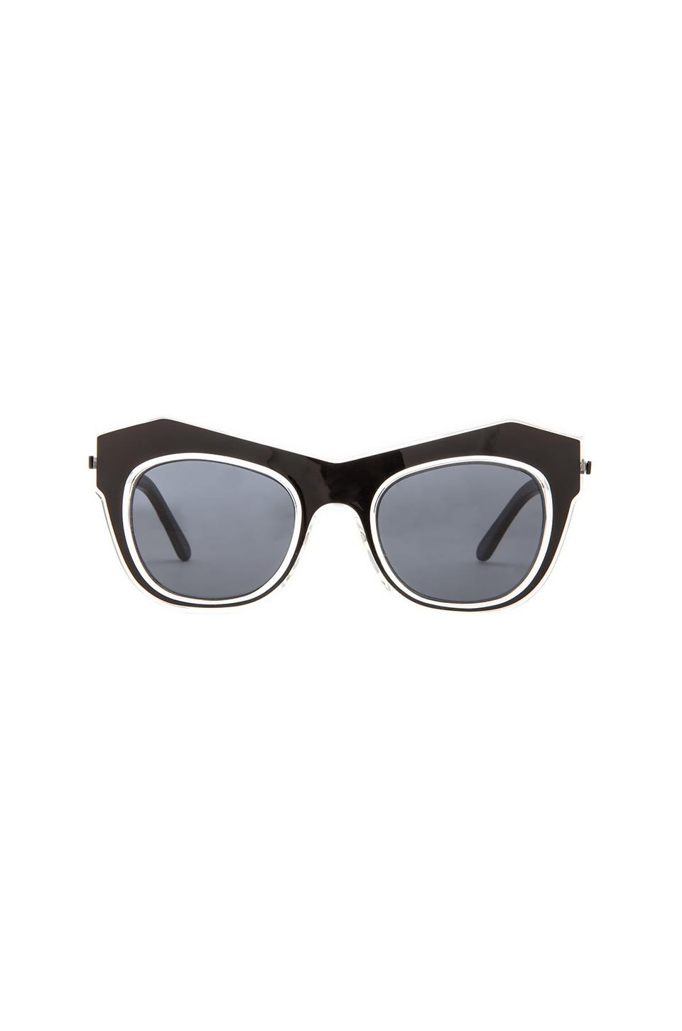 Shakuhachi x REVOLVE Odyssey Sunglasses in Clear/Black