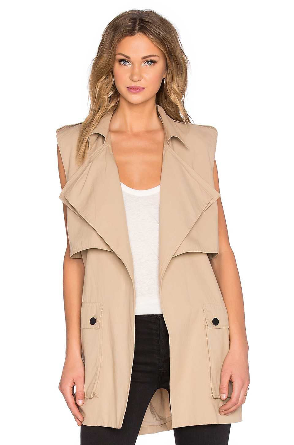Shakuhachi Out Of Africa Sleeveless Trench in Stone Beige