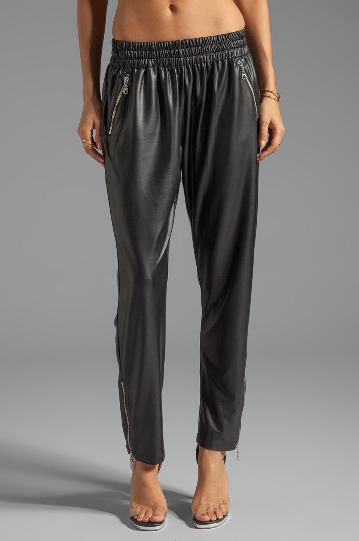 Shakuhachi Rubber Track Pants in Black