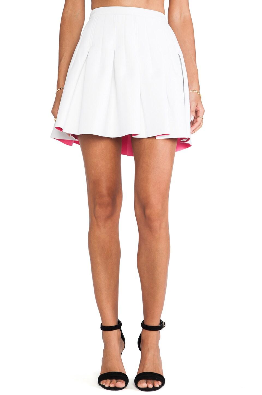 Shakuhachi Pleats Please Skater Skirt in White