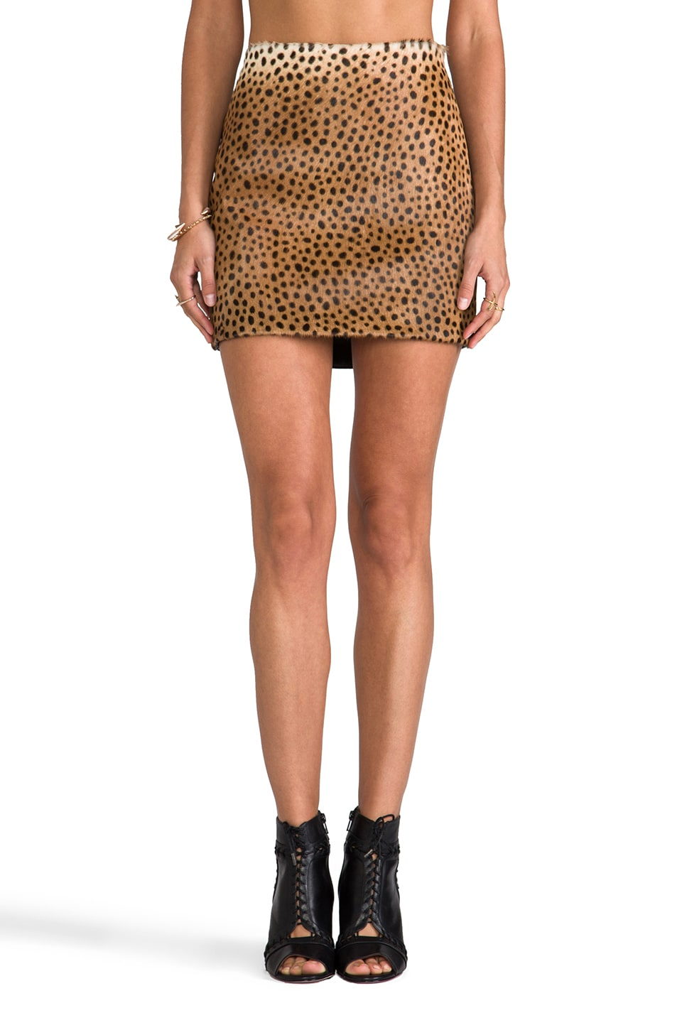 Shakuhachi Mini Skirt in Leopard