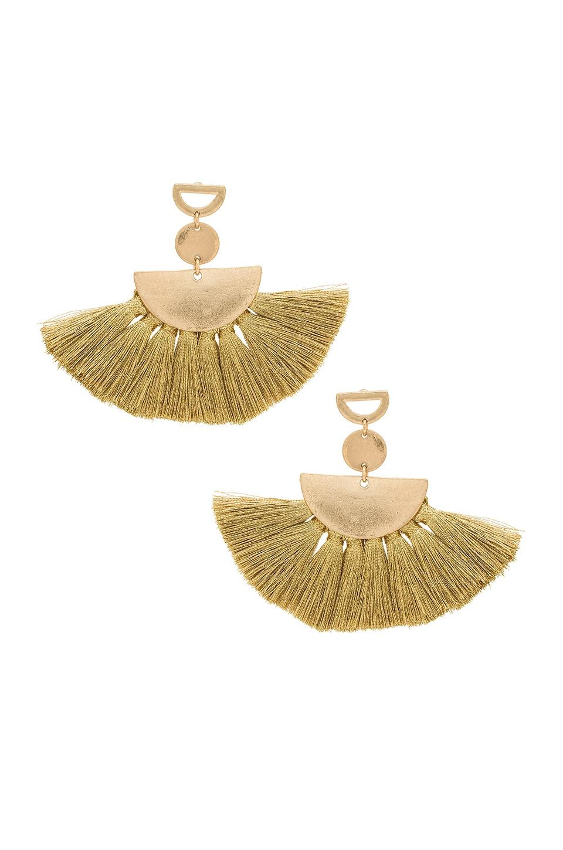 SHASHI Ava Tassel Earrings in Yellow Gold