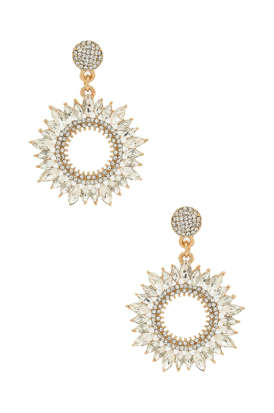 SHASHI Solar Earrings in Gold