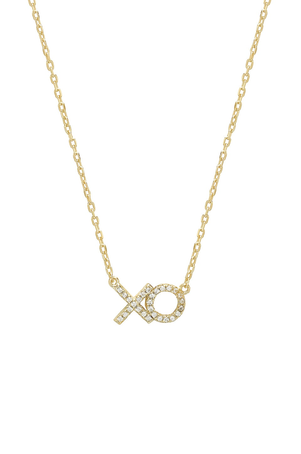 SHASHI XO Pave Necklace in Gold