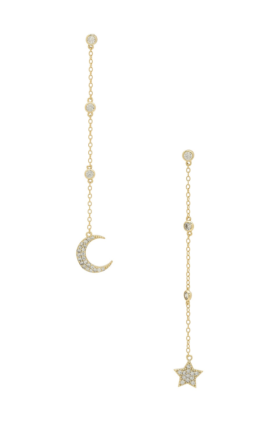 SHASHI Luna Drop Earrings in Gold