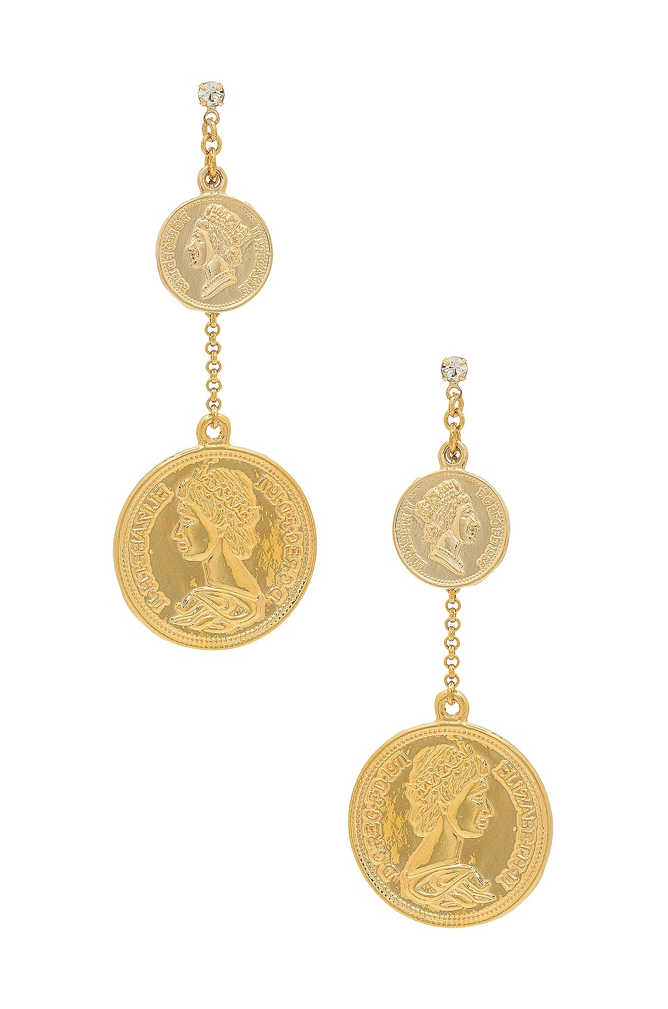 SHASHI Coin Drop Earring in Gold