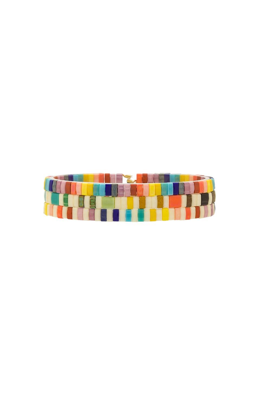 SHASHI Tilu Bracelet Set in Rainbow