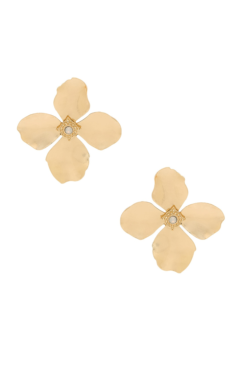 SHASHI Large Flower Stud Earrings in Gold