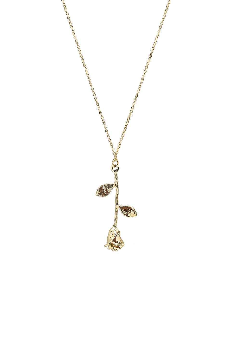 SHASHI Rose Necklace in Gold