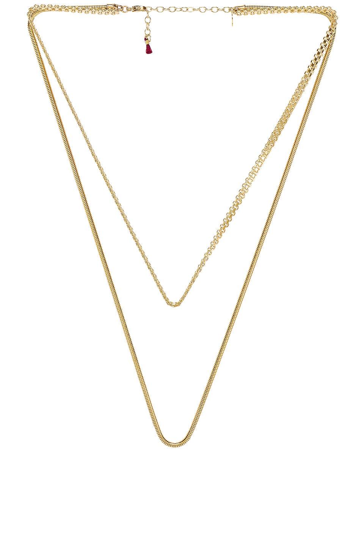 SHASHI Zafira Necklace in Gold