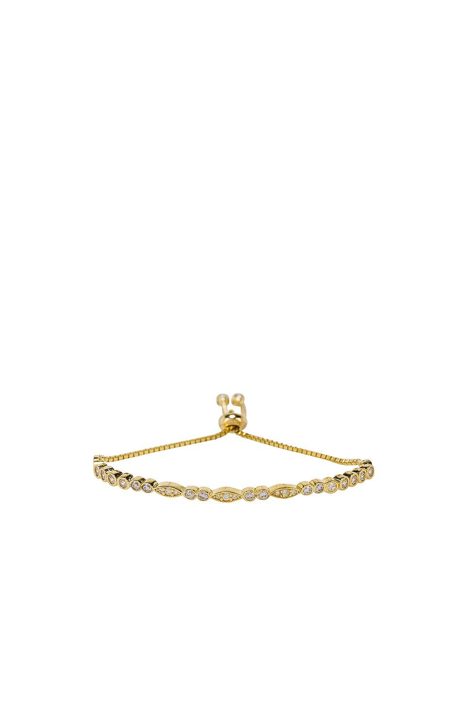 SHASHI Nadia Tennis Slide Bracelet in Clear Crystal & Gold