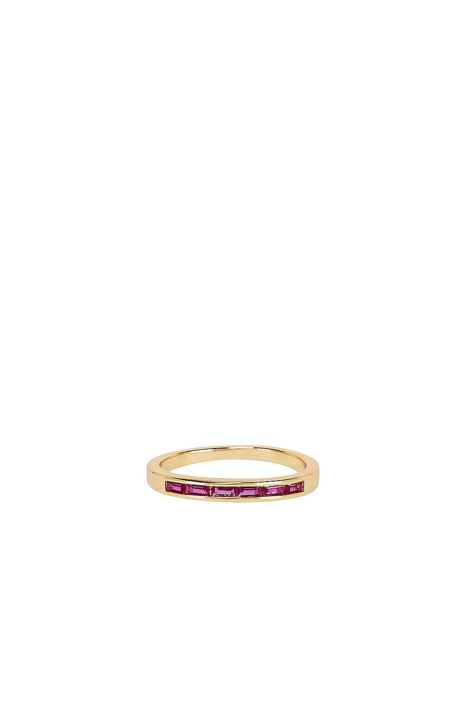 SHASHI Olivia Ring in Ruby & Gold