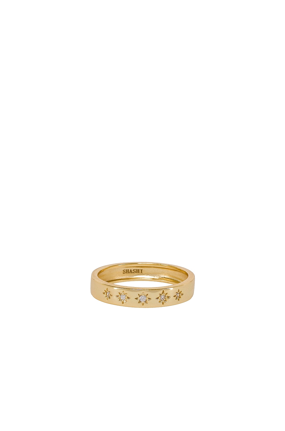 SHASHI Twinkle Band Ring in Gold