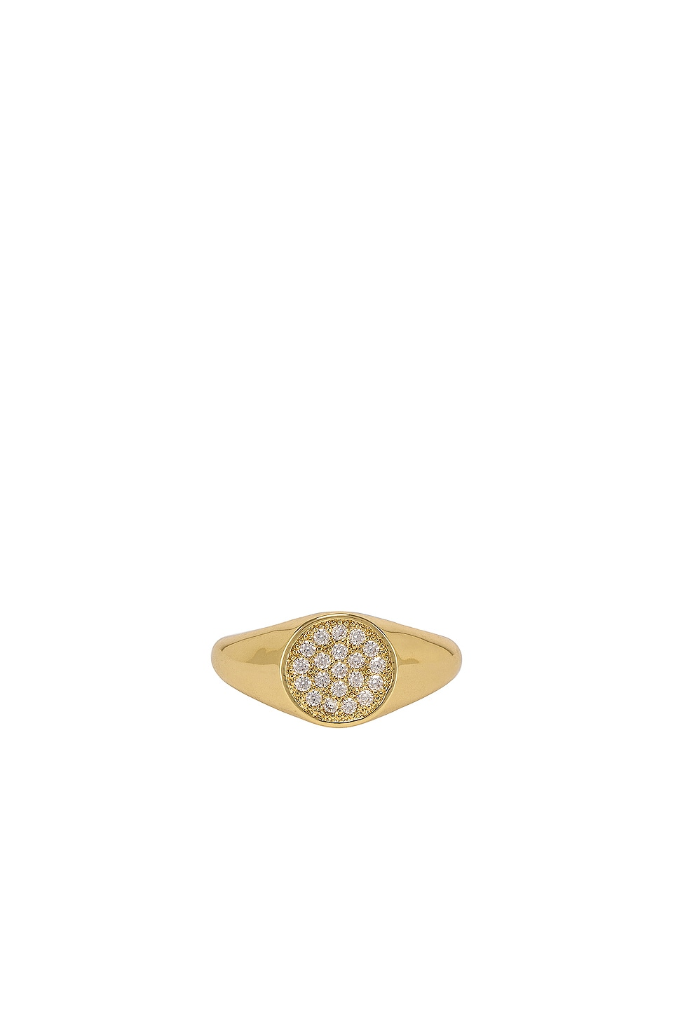 SHASHI Pave Signet Ring in Gold