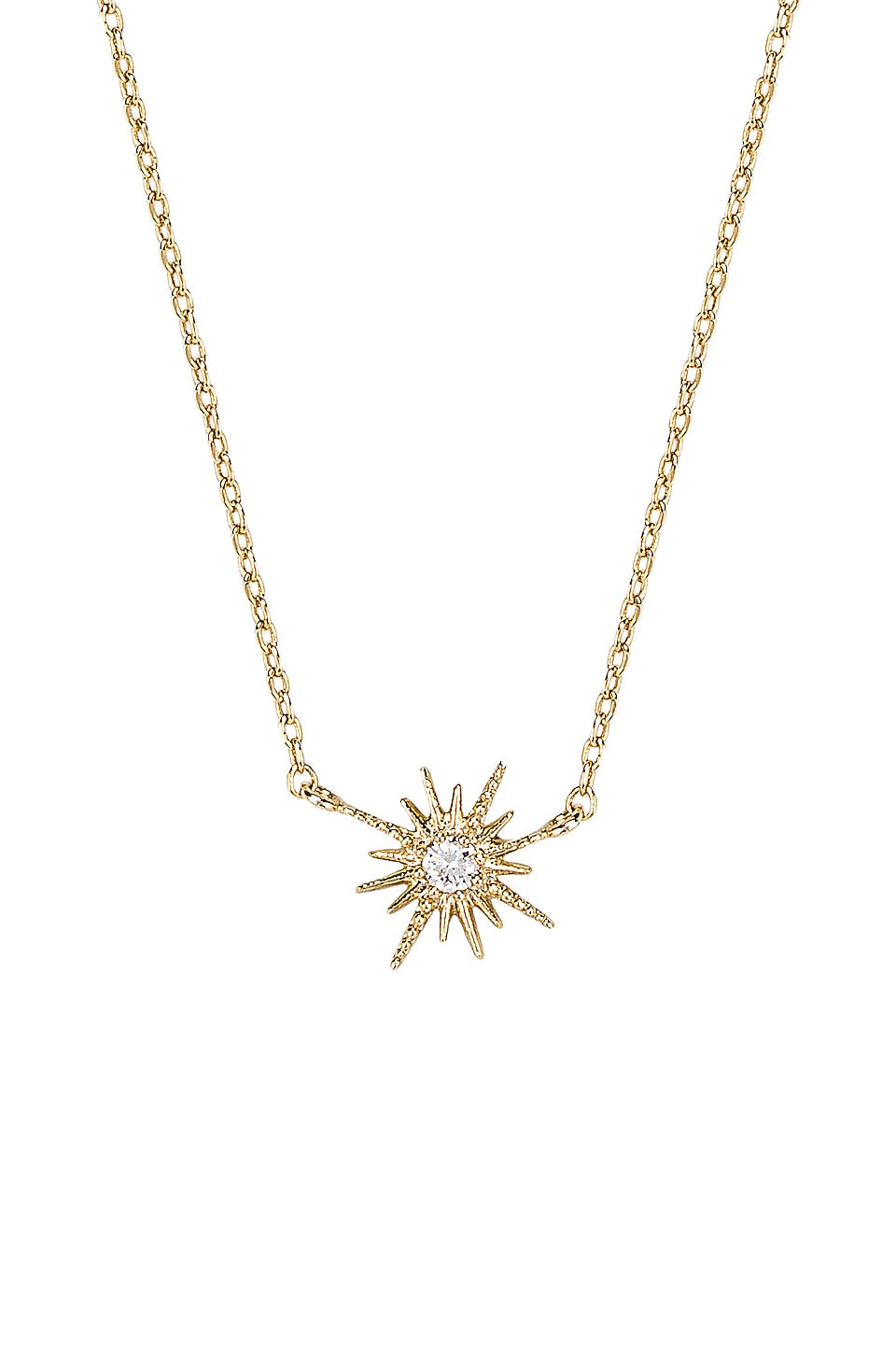SHASHI Celestine Necklace in Gold