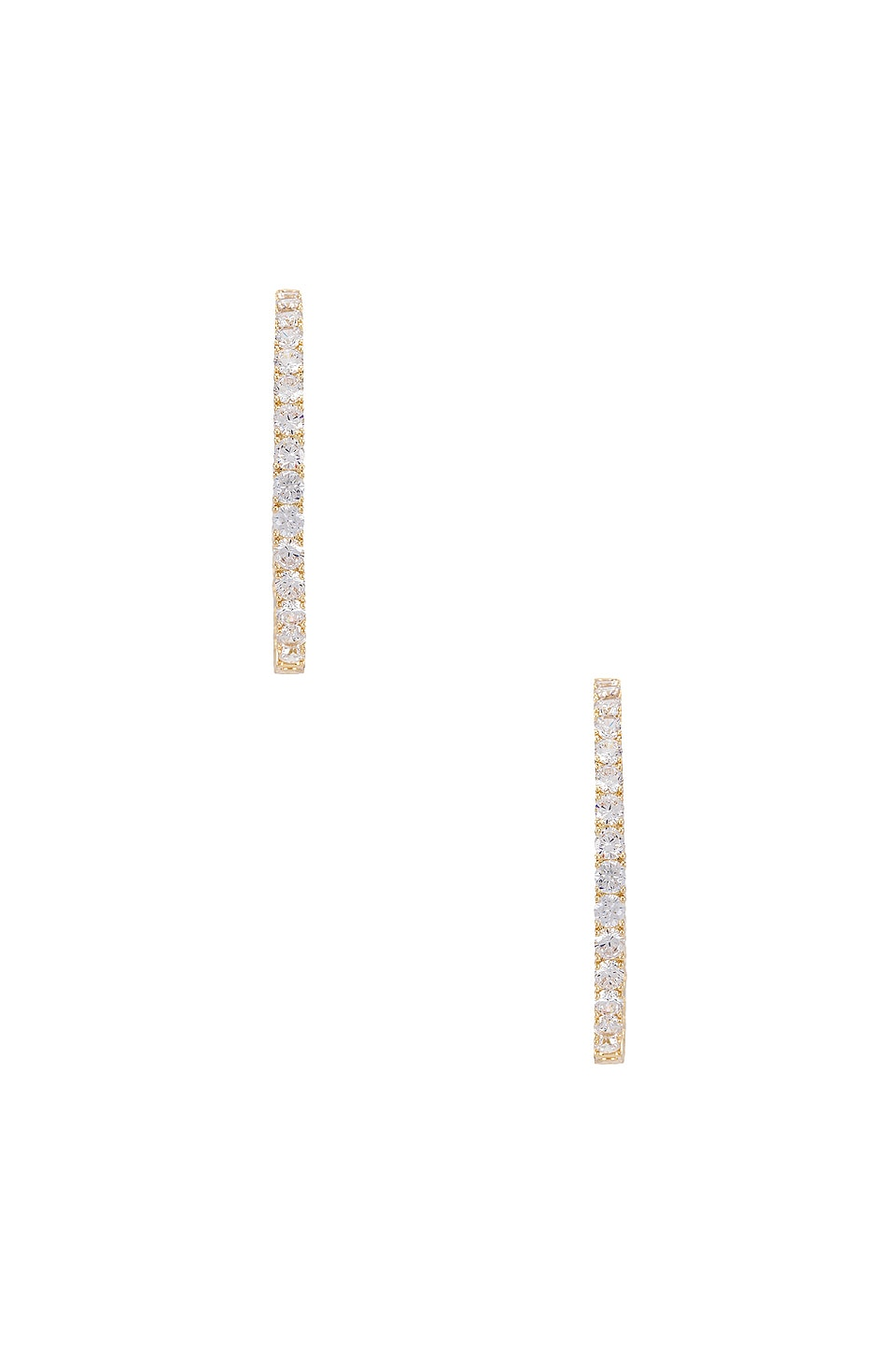 SHASHI Bella Pave Hoop Earring in Gold & Clear