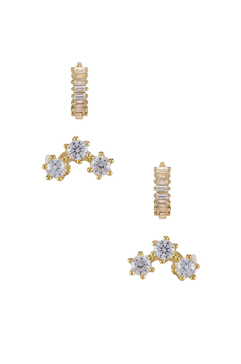 SHASHI Teagan Huggie Set Earring in Gold