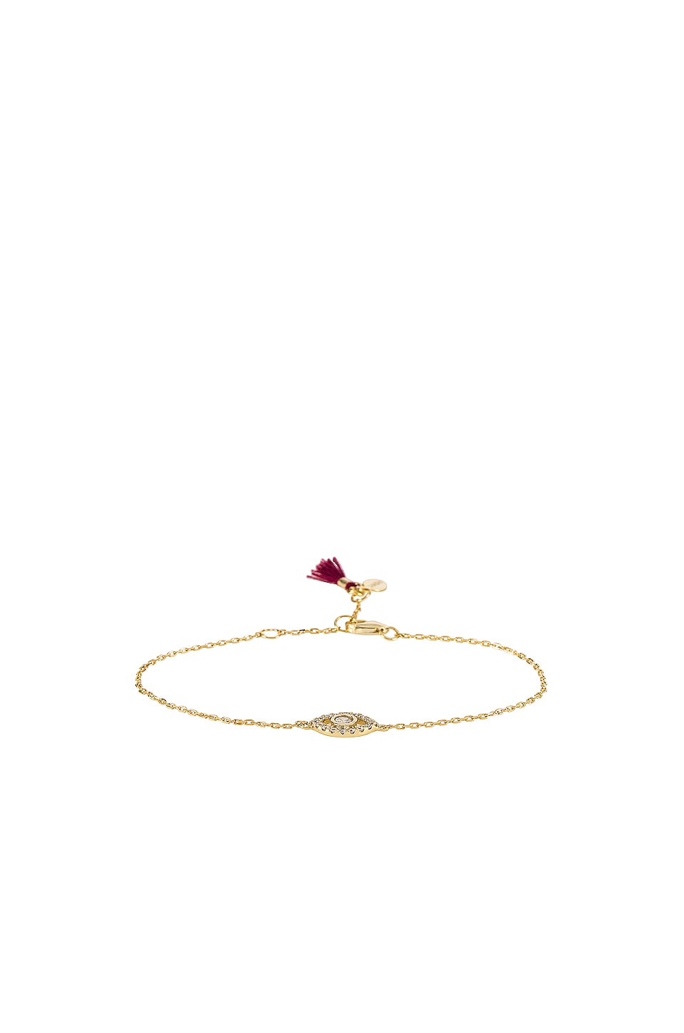 SHASHI Evil Eye Charm Pave Bracelet in Gold