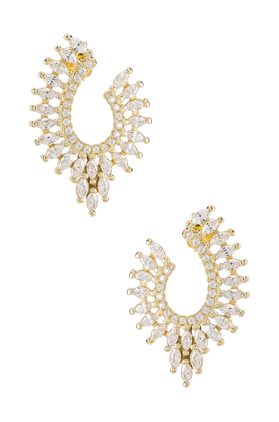 SHASHI Diana Stud Earring in Gold