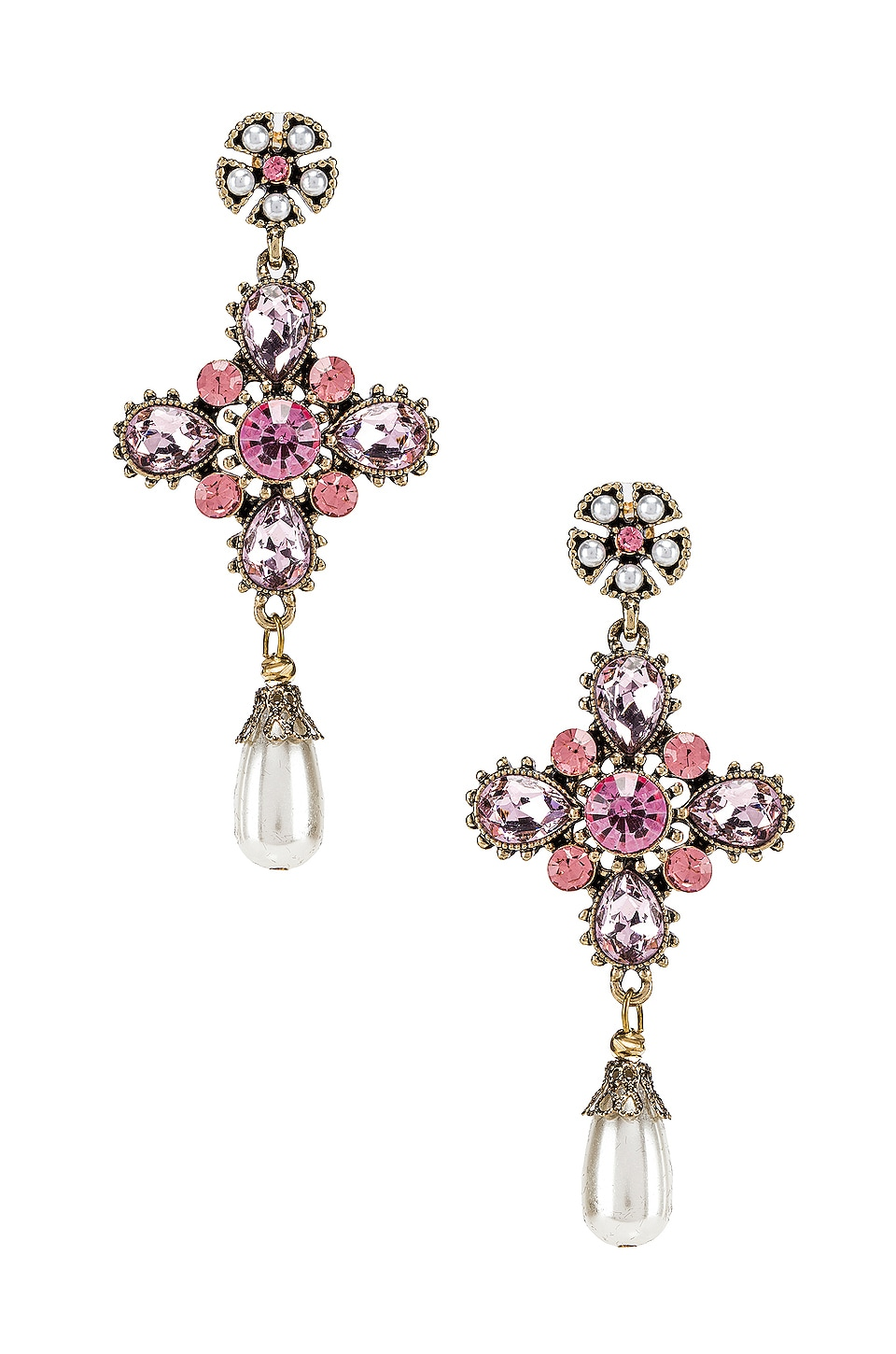 SHASHI Gloria Earring in Pink