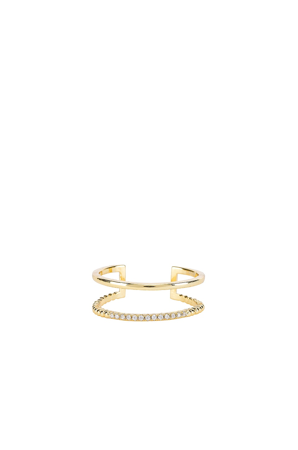 SHASHI Jade Pave Ring in Gold