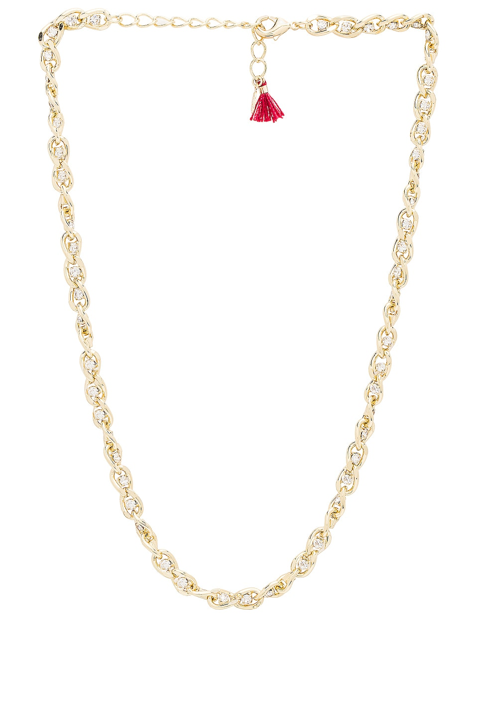 SHASHI Sarah Curb Chain Necklace in Gold