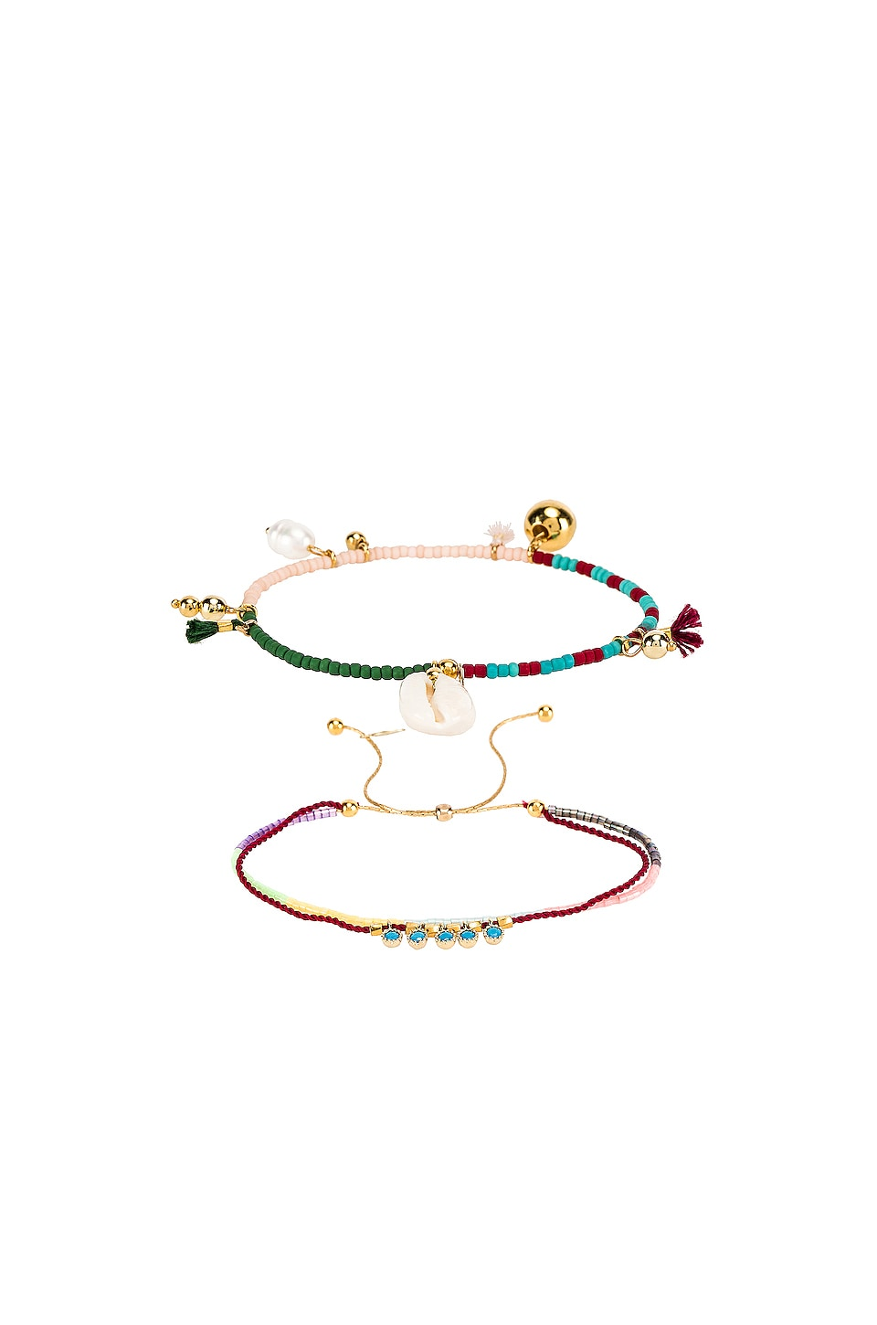 SHASHI Sealu and Peri Bracelet Set in Multi