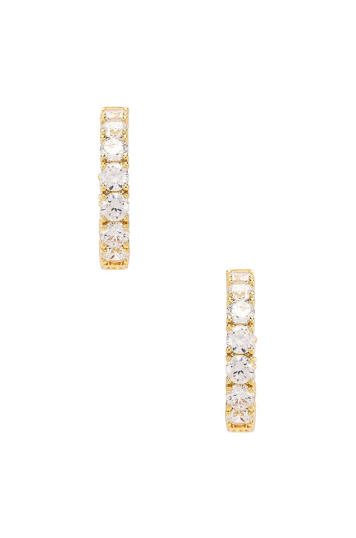 SHASHI Stella Diamond Hoop Earring in Gold