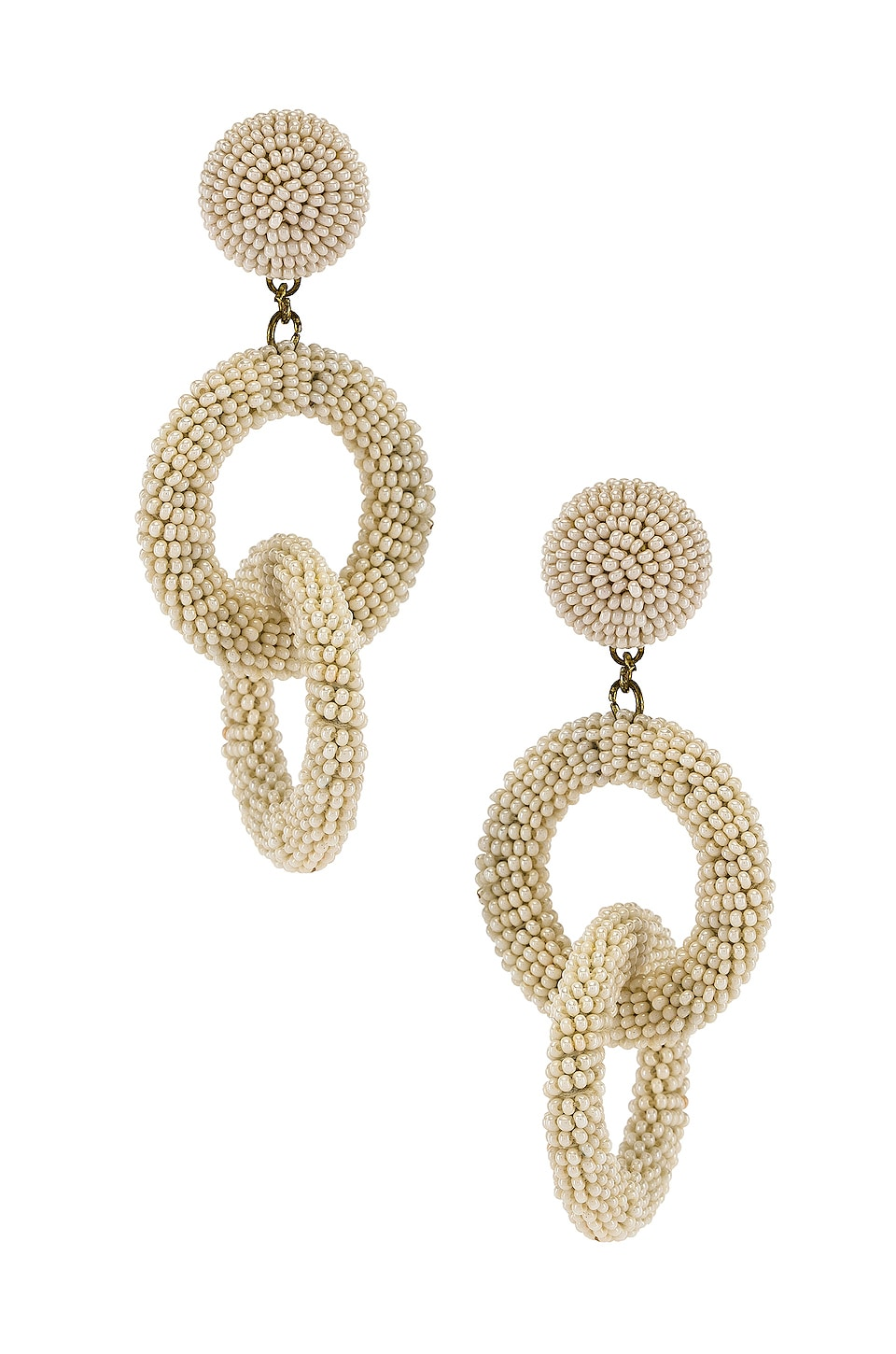 SHASHI Carmen Drop Earrings in White