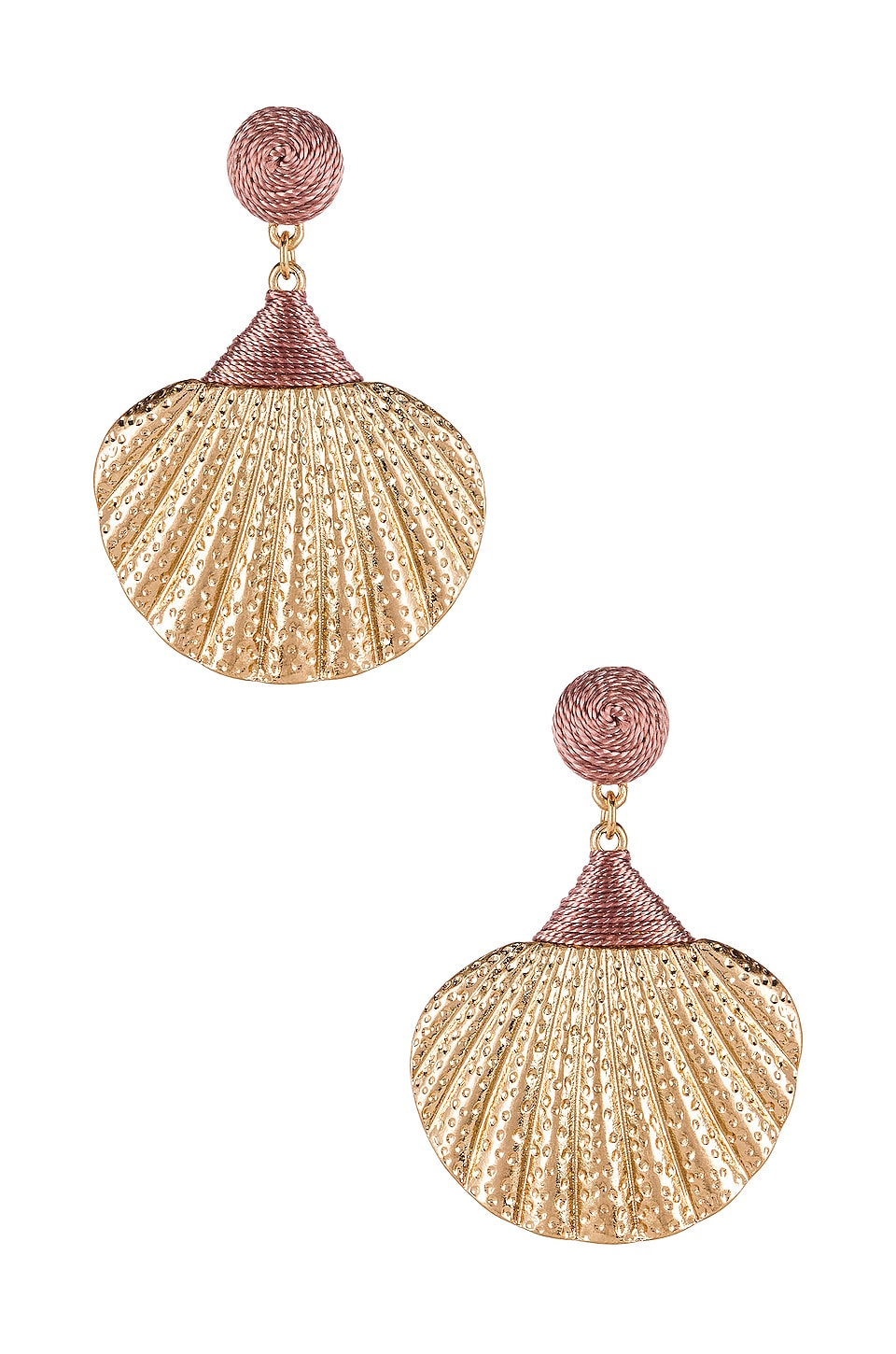 SHASHI Ariel Shell Drop Earring in Gold