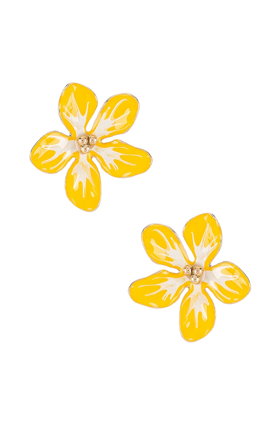 SHASHI Morning Glory Stud Earring in Yellow