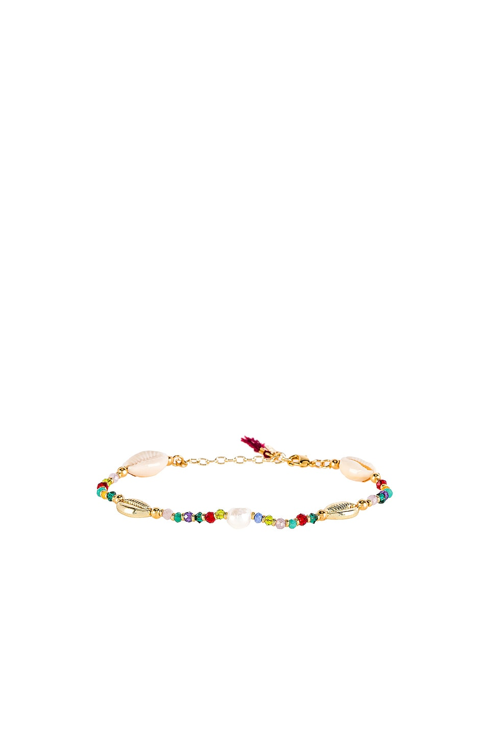 SHASHI Pacific Shell Clasp Bracelet in Multi