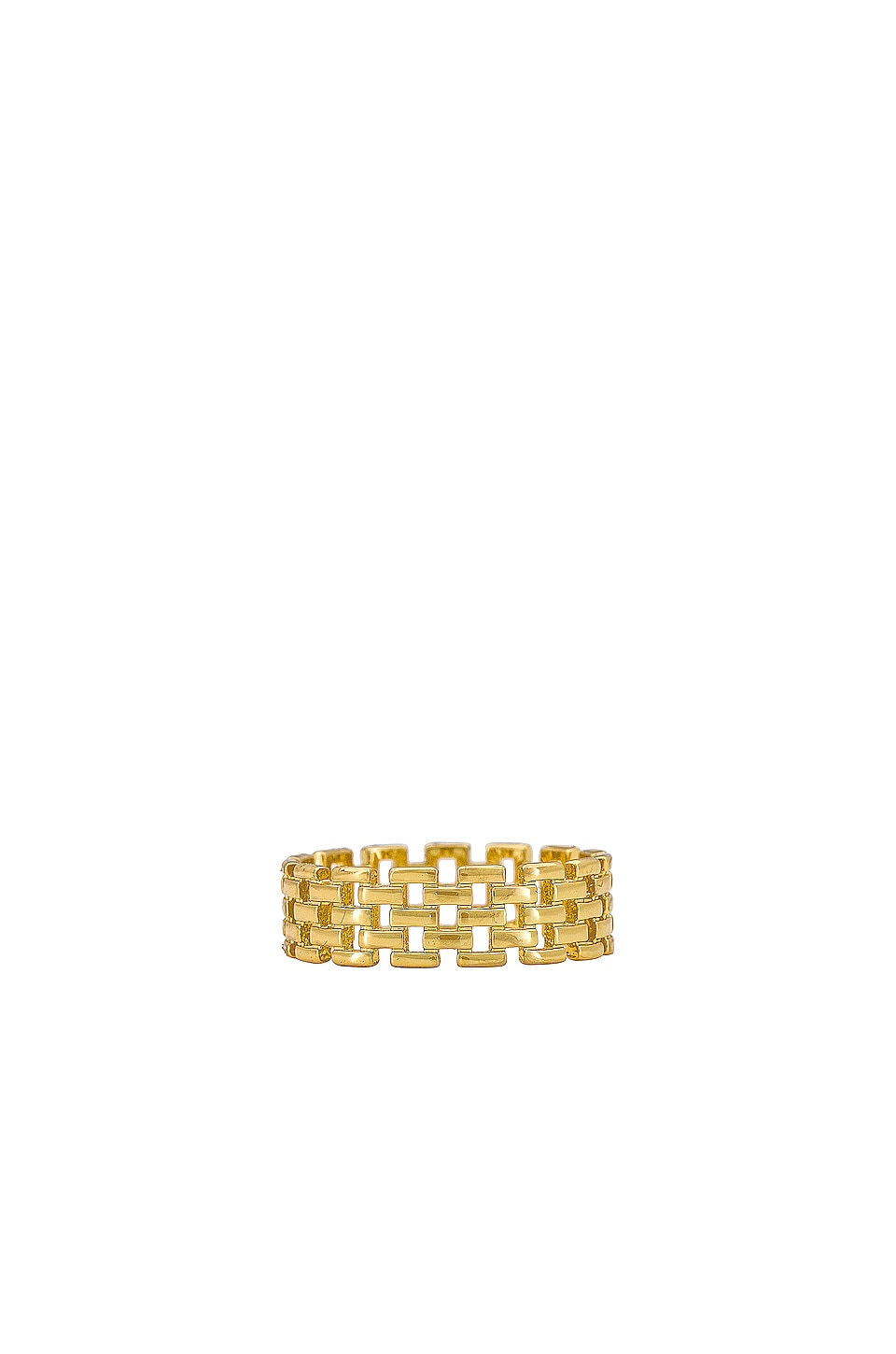 SHASHI Linked Band Ring in Gold