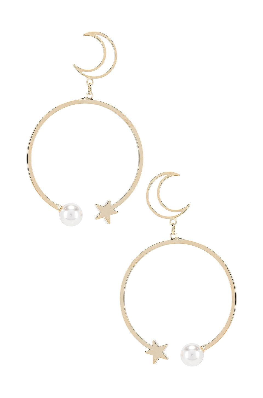 SHASHI Mona Moon Drop Earrings in Gold
