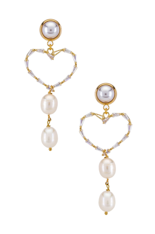 SHASHI Love Affair Earrings in Gold