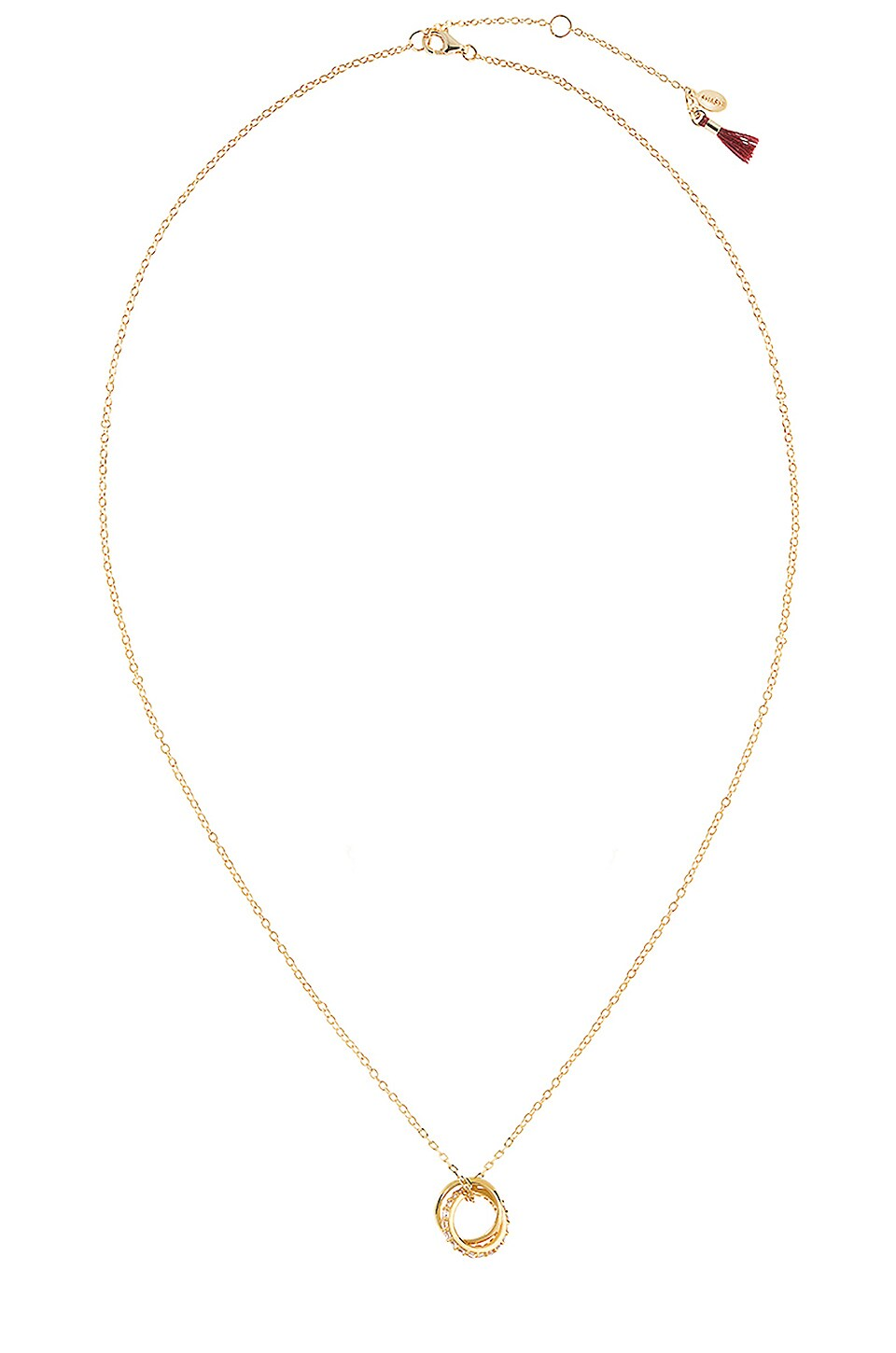 SHASHI Vera Pave Necklace in Gold