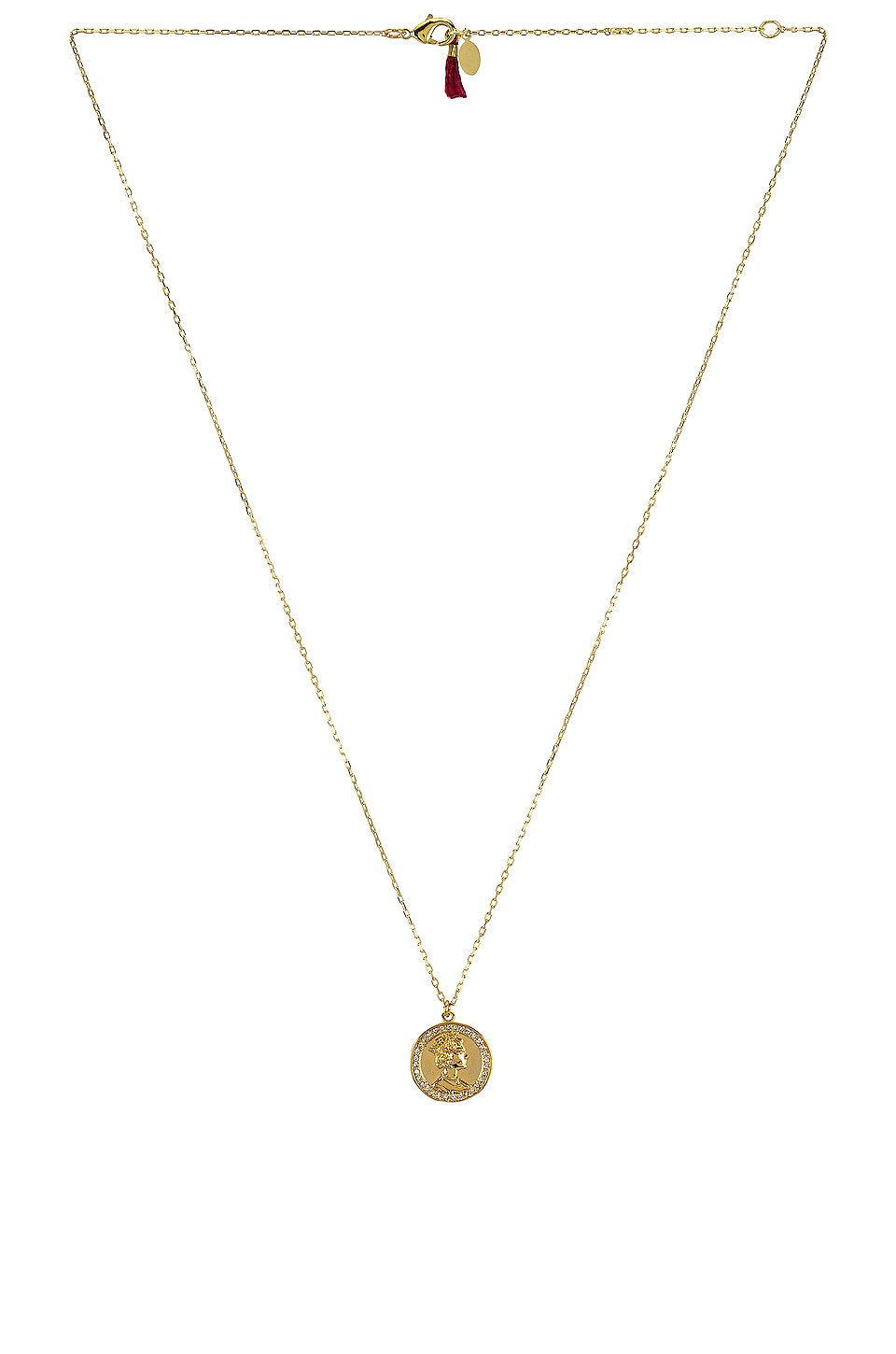 SHASHI Warrior Pave Necklace in Gold