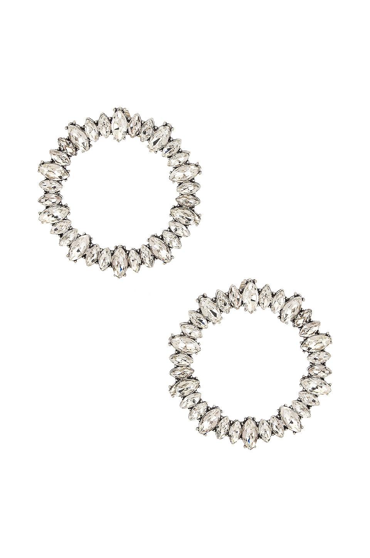 SHASHI Saturn Earring in Silver