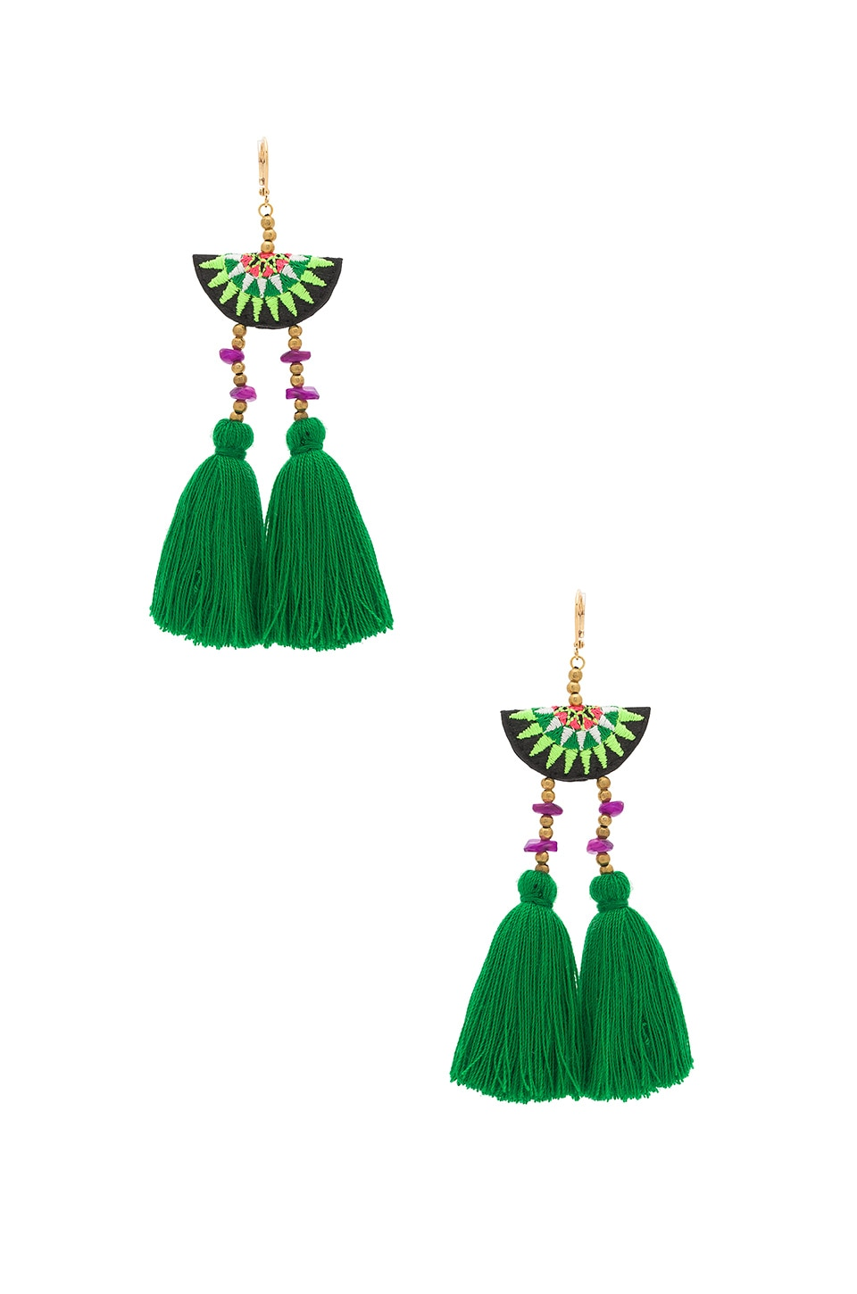 SHASHI Camilla Drop Earring in Green