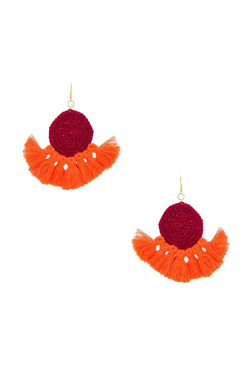SHASHI Lena Tassel Earring in Fuchsia