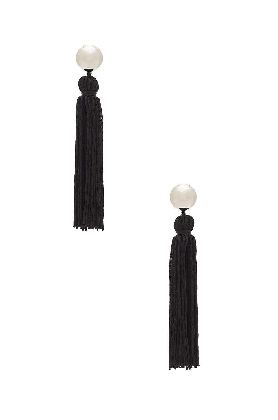 SHASHI Vanessa Tassel Earring in Black
