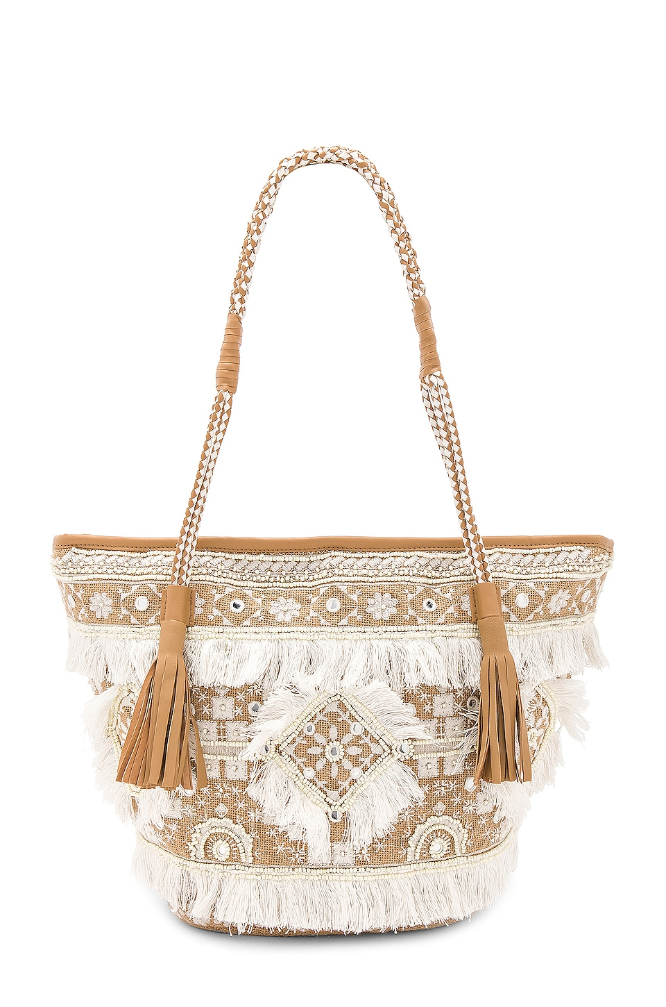 SHASHI Belly Tote in Natural
