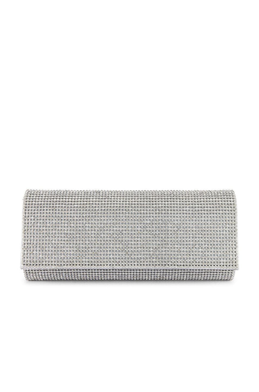 SHASHI Paris Clutch in Silver