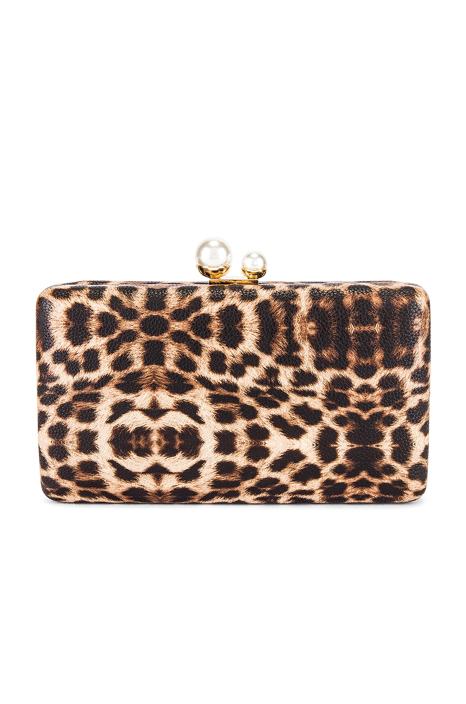 SHASHI Bengali Clutch in Brown